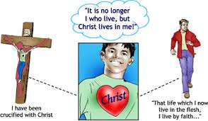 It is no longer I but Jesus Christ Who lives in me